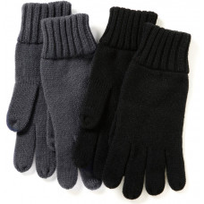 Mallory gebreide handschoenen grijs s/m