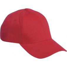 Brandon 6-panel cap uni velcro sluiting rood